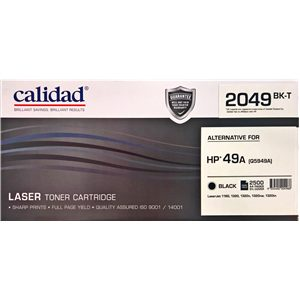 Calidad 2049-BK Black Toner alternative for HP 49A (Q5949A); CANON CART 308; CART 708