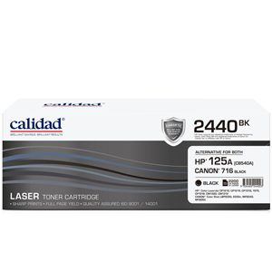 Calidad 2440-BK Black Toner alternative for HP 125A (CB540A)