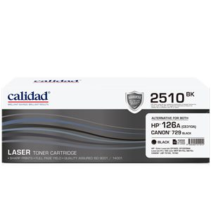 Calidad 2510-BK Black Toner alternative for HP 126A Black (CE310A); CANON CART 329BK
