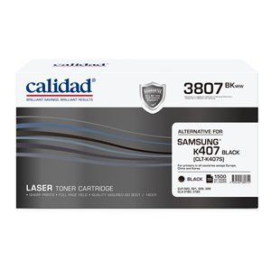 Calidad 3807-BKWW Black Toner alternative for SAMSUNG K407