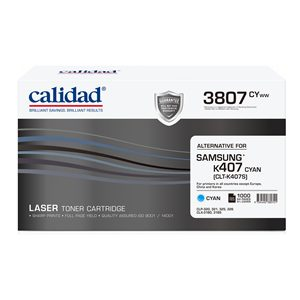 Calidad 3807-CYWW Cyan Toner alternative for SAMSUNG K407