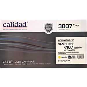 Calidad 3807-YLWW Yellow Toner alternative for SAMSUNG K407