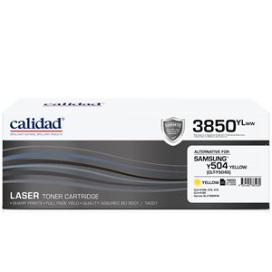 Calidad 3850-YLWW Yellow Toner alternative for SAMSUNG ML4550 / ML4550 / CLTK504S