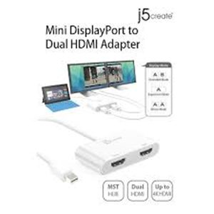 J5create JDA156 Mini DisplayPort to Hdmi(4K) x2
