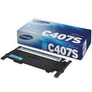 Samsung CLT-C407S Cyan Toner Cartridge-CLT-C407S