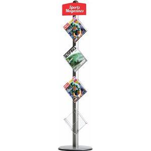 Novel Free Standing Leaflet Dispenser (4 x A4 Brochure Holders)
