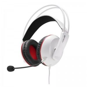 Asus Cerberus arctic gaming headset for PC/Mac/PlayStation/mobile device - White + red
