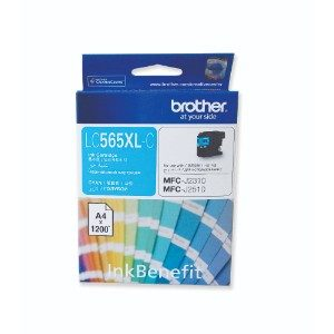 BROTHER LC565XLC HIGH YIELD CYAN INK CARTRIDGE