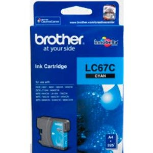 BROTHER LC67C CYAN INK CARTRIDGE