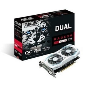 Asus DUAL-RX460-O2G - 2Gb Oc - White housing with