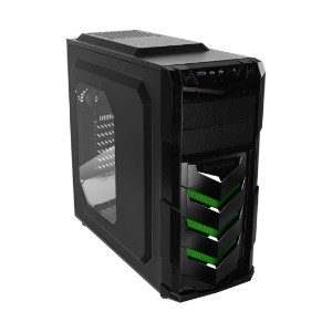 Raidmax Vortex V4 Window (GPU 390mm) ATX Gaming Chassis Black and Green