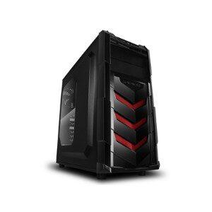 Raidmax Vortex V4 Window (GPU 390mm) ATX Gaming Chassis Black and Red