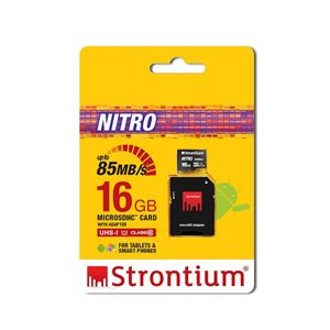 Strontium 16GB Nitro MicroSD Card 85MB/s With Adapter