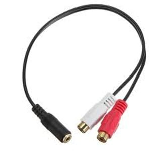 3.5mm Female to RCA(L+R) Female audio cable
