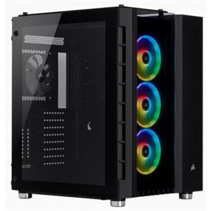 Corsair Chassis with Tempered Glass Side Panel