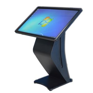 """43"""" Touch LED Computer Table - Black"""
