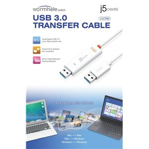 J5 JUC500 USB data transfer cable with KM switch