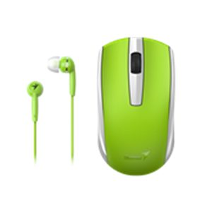 Genius Wireless Mouse and Wired Earphone Combo
