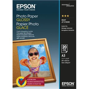 A3 Photo Paper Glossy 20 Sheets Epson.