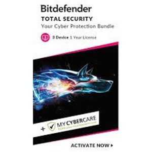 Bitdefender Total Security 3 User 2020 & MyCybercare Cyber Fraud Policy