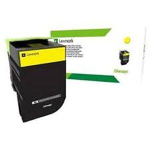 Lexmark 70C8HYE High Yield Yellow Toner Cartridge